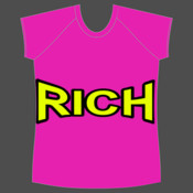 LADIES T-SHIRT PERSONALISE