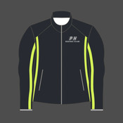 PHRC Black HiViz Reflective Mens Running Jacket