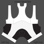 semi custom bib shorts black