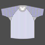 Baseball shirt O neck 4 colored stripes
